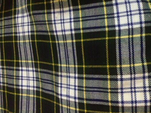 "Acrylic Tartan Fabric Width 53/"" 4 Yard 144/' Long /& 53/"" Multi colour Dress Gordon"