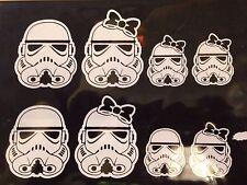 """Star Wars Trooper familia """"a bordo"""" Coche/Pegatinas de Pared. Set completo incluido"""
