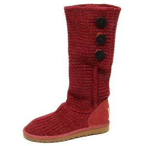 Ugg Shoe Red Wool Scarpe Stivale Melange E9714 Box Woman Boot suede no Donna FBfUUq