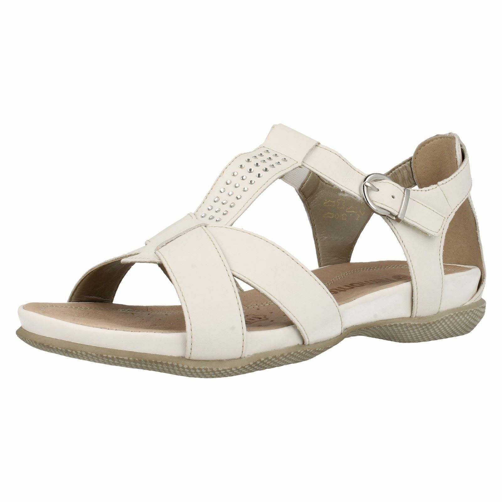 White Leather remonte open toe Summer remonte Leather Sandals r7455 5431b1