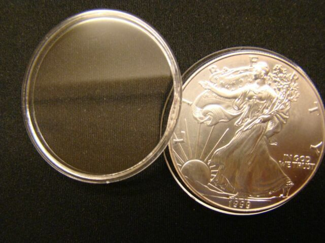 ~3 Direct Fit 40.6 mm Coin Capsule For American Silver Eagle 1 oz Dollar H40.6