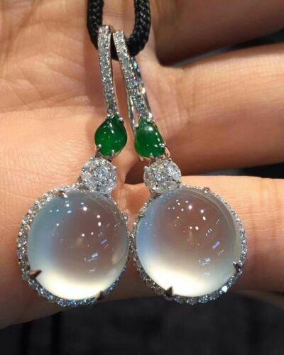 925 Silver Moonstone/&Blue Sapphire Women Prom Jewelry Gift Ear Dangle Earrings