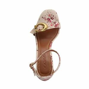 Coach-Womens-Maya-Closed-Toe-Casual-Ankle-Strap-Sandals-Beige-Size-9-5-nZ9C