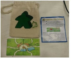 AgréAble Promo Carcassonne The School / Die Schule Vert Bag / Vert Meeple, Allemand Adopter Une Technologie De Pointe
