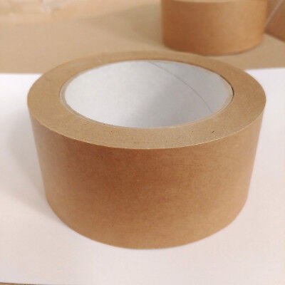 6 Rolls of Brown Kraft Paper Self Adhesive Backing Tape Picture Frame 50mm x 50M