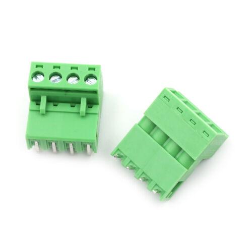 20pcs 5.08mm Pitch 4Pin Plug-in Screw PCB Terminal Block Connector F AE