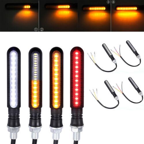 4X 24LED Motorcycle Motorbike Turn Signal Indicators Lights Flowing Water Lamps