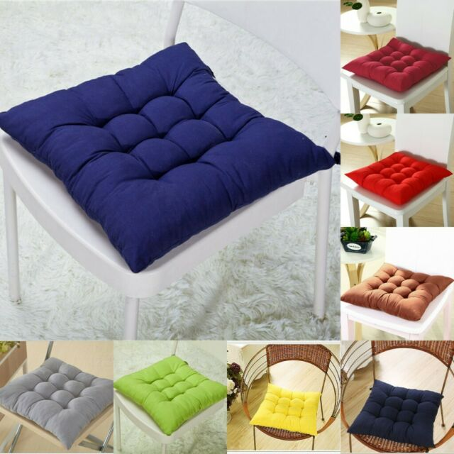 Dining Garden Patio Chair Office Seat Pads Tie On Pad Cushion Home Decor 14