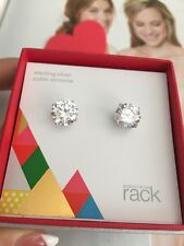 Nordstrom's Rack earrings square cubic Zirconia very shiny Wedding! NEW in Box