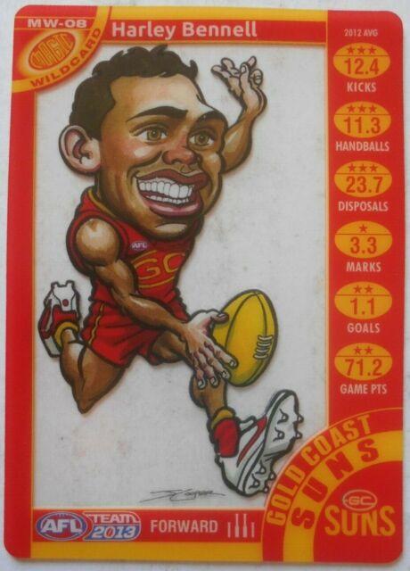 2013 AFL Teamcoach Magic Wildcard Harley Bennell Gold Coast Suns (MW-08)