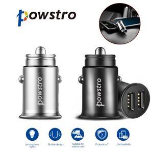 Mini-Zinc-Alloy-Dual-USB-Car-Charger-4-8A-Smart-Fast-Charging-DC-12V-24V-CA