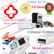 USA Stock,24 hours 3 Channel ECG ECG/EKG Holter Monitor System,CONTEC,CE TLC9803