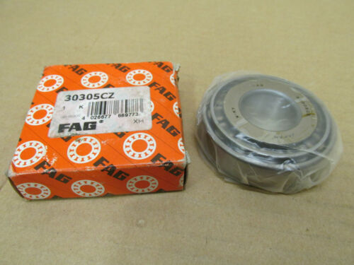 NIB FAG 30305CZ SET TAPERED ROLLER BEARING CONE /& CUP 30305 CZ 25 mm 62 mm OD