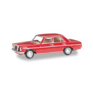 Herpa-024785-003-Mercedes-Benz-240D-8-Rojo-Escala-1-87-Coche-a-Escala-Nuevo