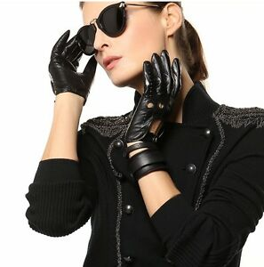 Genuine-Sheep-Leather-Women-driving-gloves
