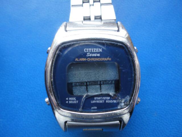 VINTAGE ORIGINAL - CITIZEN Seven LCD / Alarme Chronographe / DQ - Années 80