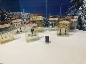 8 Christmas Village Figurines Accessories- From LeMax New