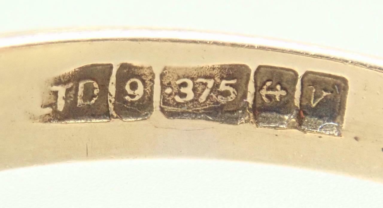 Fabulous Vintage Estate 9K Gold 1.4ct Garnet Crys… - image 11