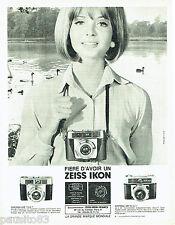 PUBLICITE ADVERTISING 076  1966  Zeiss Ikon  appareil photo Contessa LKE LBE
