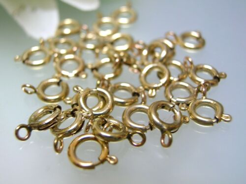 5 10 50 pcs 14k gold filled 5.5mm spring ring clasps w// closed O ring USA made
