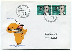 Ffc 1977 Mittelholzer Afrika Gedenkflug Special Flight Zurich Kairo Helvetia