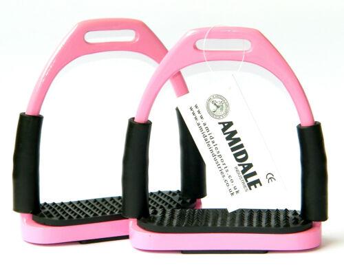 Stahl Rosa Farbe von Flexi Sicherheit Steigbügel Reiten Biegsame Eisen S