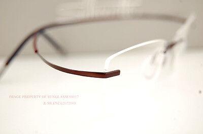 Brand New Silhouette Eyeglass Frames TMA ICON 4339 6062 BORDEAUX 7581 for Women
