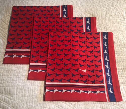 Set Of 3 Enormous Handkerchief Men's Shooting Pheasant Cotton Hankies
