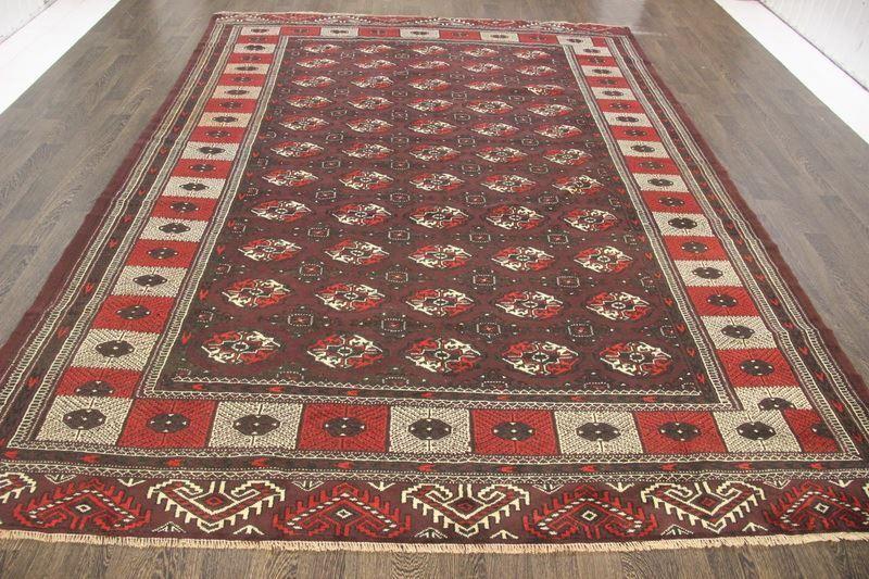 Persiano Tradizionale Lana Vintage 8 x 11.3 fatto a a a mano tappeti orientali RUG CARPET 9afa56