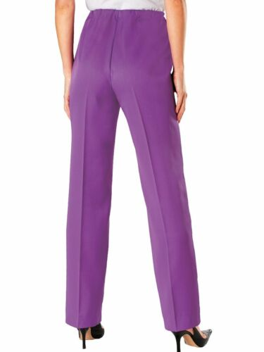 New Womens Petite Plus Size 20P 38P Haband Salon Studio Pull On Stretch Pants