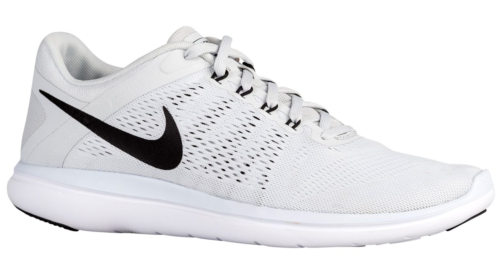 NEW Hommes NIKE Flex RN 2018 Running Trainers Chaussures Size: 6 Color: Platinum
