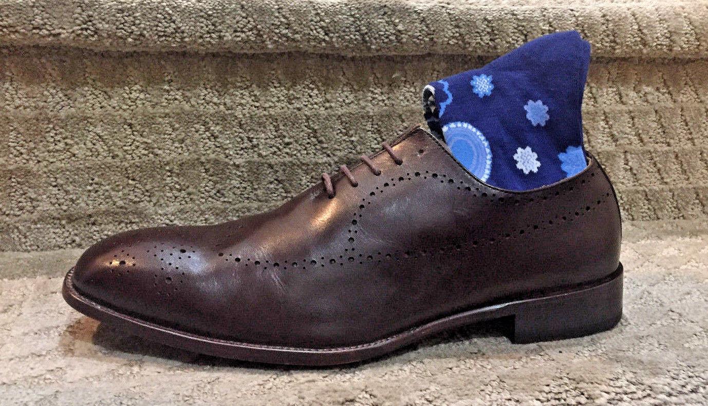 """Scarpe casual da uomo  Hart Schaffner Marx """"YONKERS"""" Brown Dress Shoe HK350S97 Size 12 MSRP 5.00"""