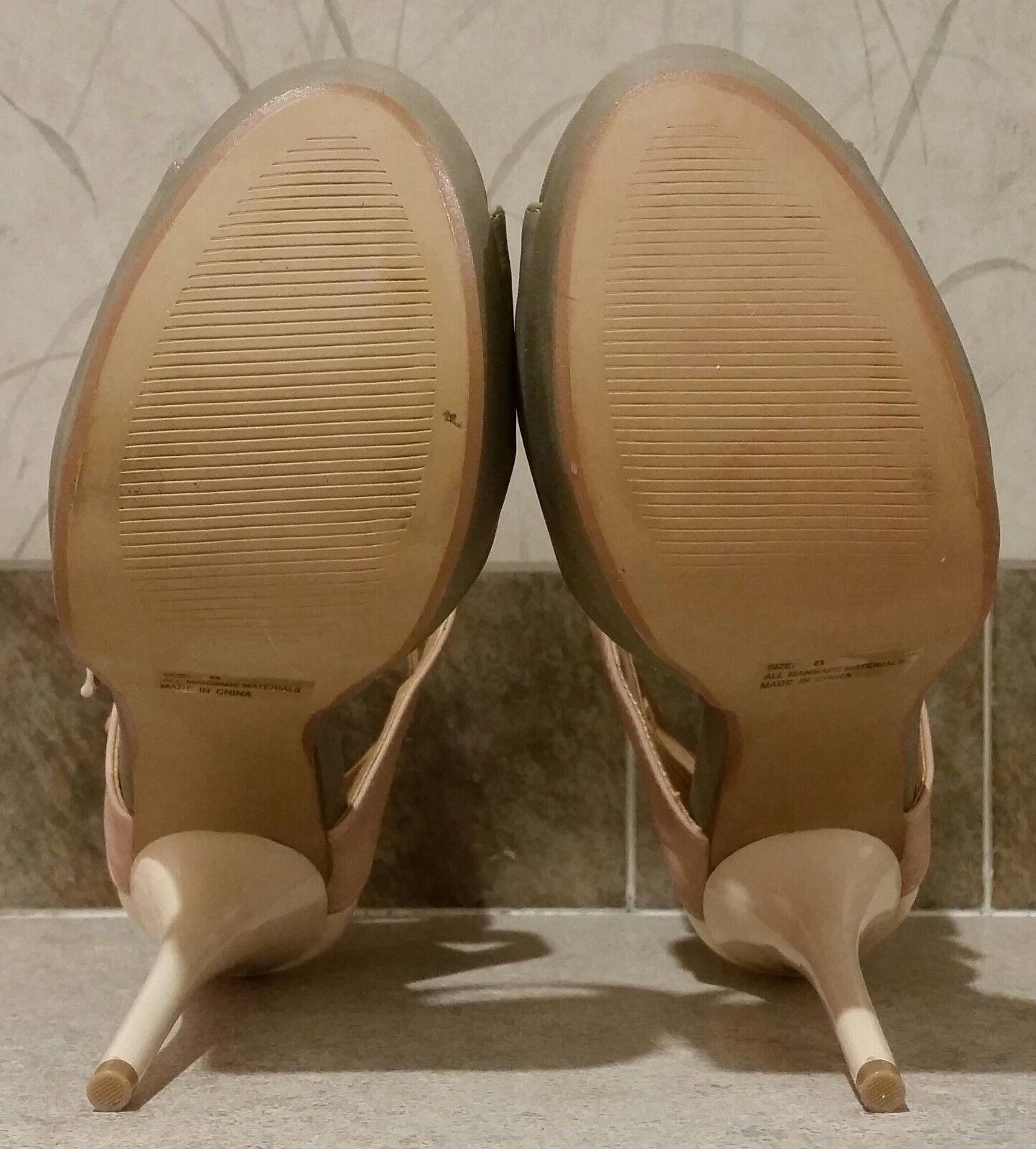 CHARLOTTE RUSSE Dazzling-73 grau Blaush Nude Nude Nude Strap Platform Stiletto Sandals 8 d6cb39