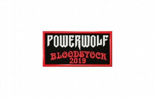 Powerwolf Bloodstock 2019 Souvenir Embroidered Cloth Patch