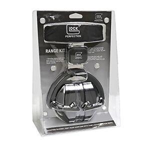 NEW-Official-GLOCK-Range-Kit-Earmuff-Hearing-Protectors-amp-Protective-Glasses