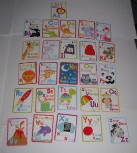 ; Kids Create Educational 1 X Alphabet, 26 Cartes En Présentation Tin-afficher Le Titre D'origine Fabrication Habile