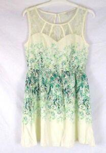 LC-Lauren-Conrad-Women-Fit-Flare-Sleeveless-Dress-Sz-12-Floral-Summer-CB84G