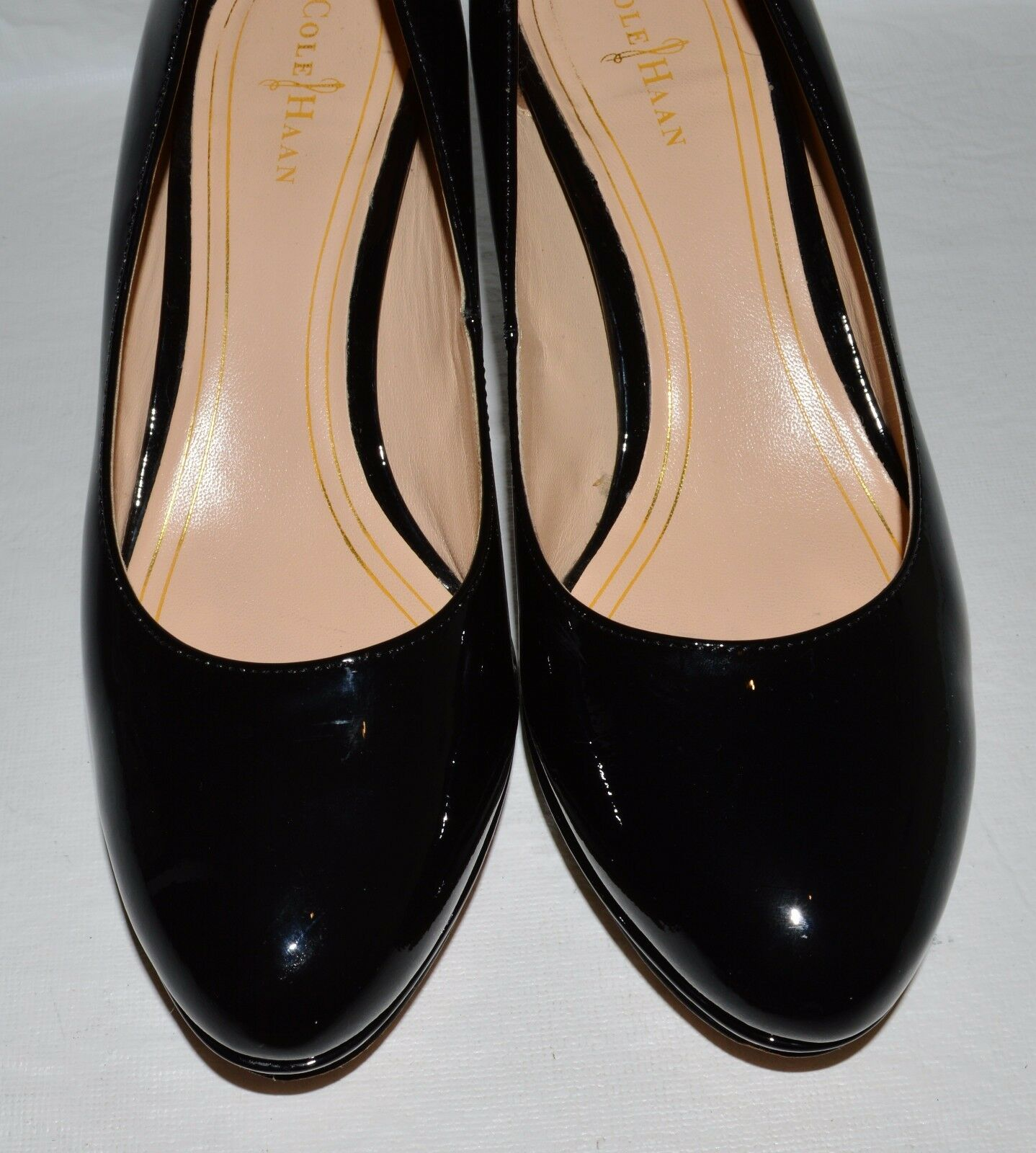 COLE B HAAN AIR SZ 7 B COLE BLACK PATENT LEATHER PLATFORM PUMPS HEELS Schuhe a9fd11