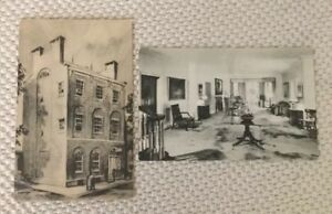 Vintage-US-Post-Cards-Fenimore-House-Museum-The-Duncan-Stiles-House-Albertype-Co