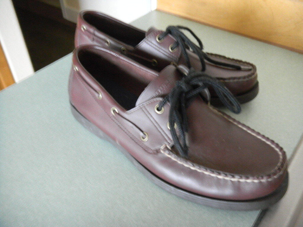 NWOB Ralph Lauren Polo Sport Deck shoes Oxford Loafer Brown Leather  Sz 10.5 D