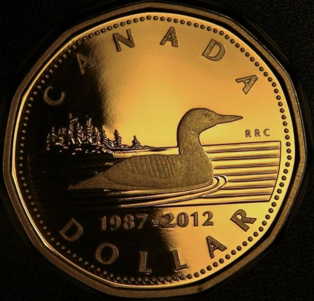 1987-2012 Canada 25th Anniversary of the Loonie PROOF Loonie Dollar from Set