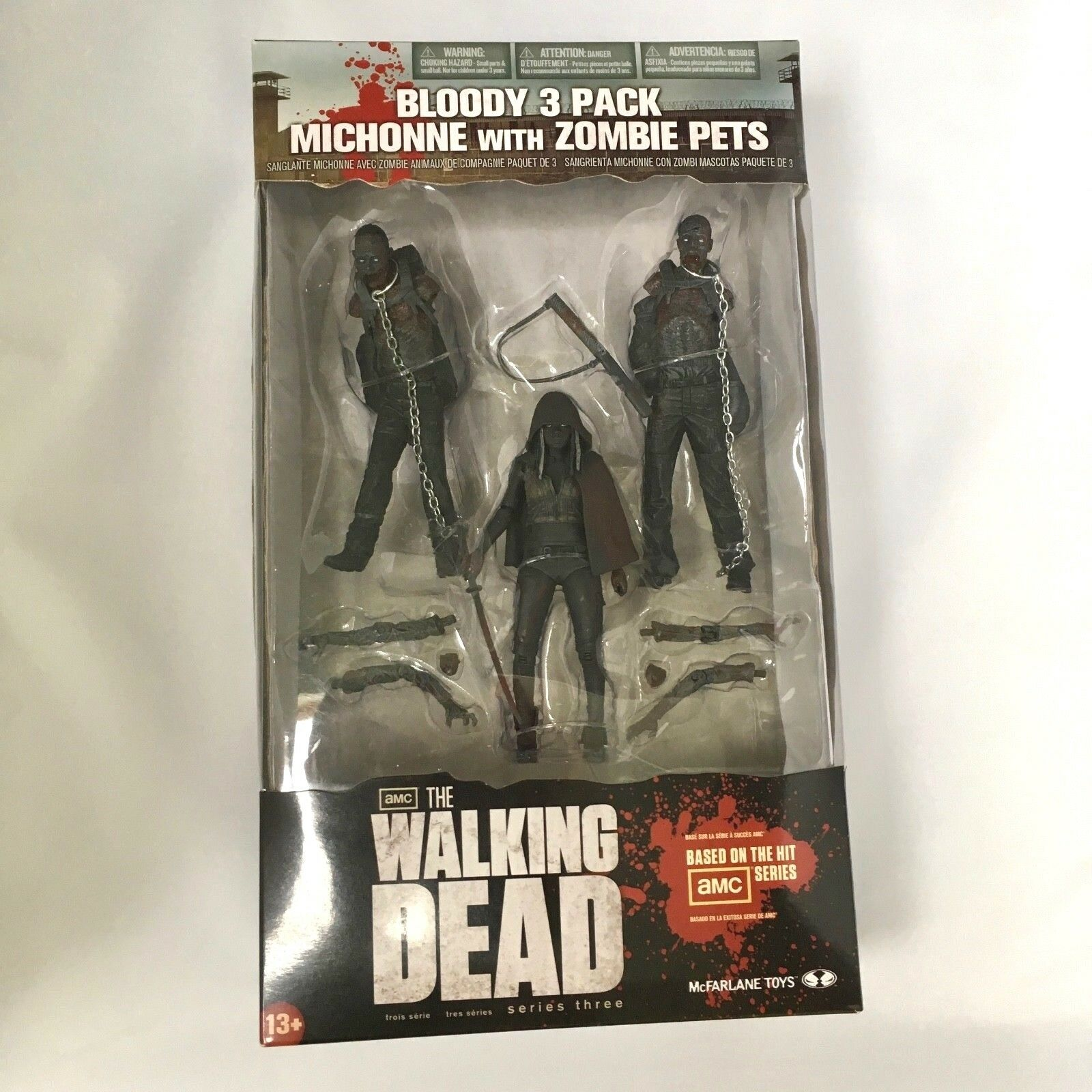 The Walking Dead     Bloody MICHONNE with ZOMBIE PETS - 3-Pack <<