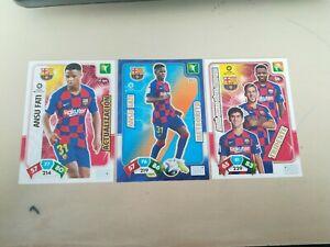 Ansu Fati FC Barcelona 3 Rookie Cards Adrenalyn 2019 2020 Bases + Meteorito