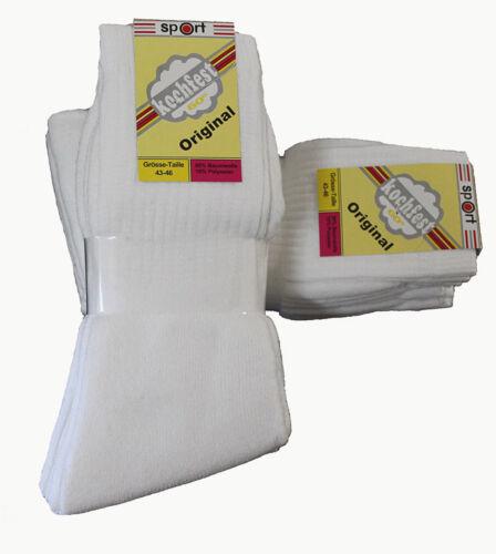 15 Paar Herren  Sport Socken weiß 90 /% Baumwolle uni