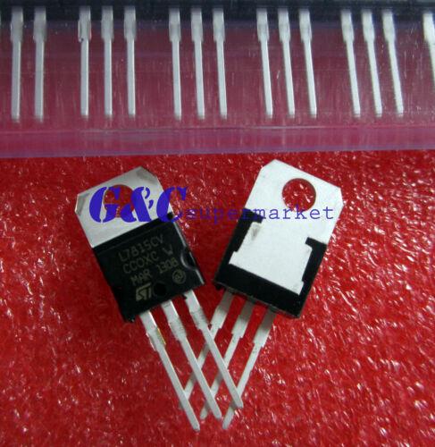 50PCS L7815 IC REG LDO 15V 1.5A TO-220 NEW GOOD QUALITY T16