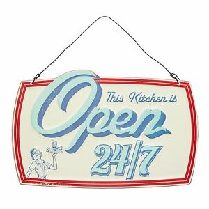 Kitchen Craft World of Flavours Stateside Open All Hours American Diner Sign