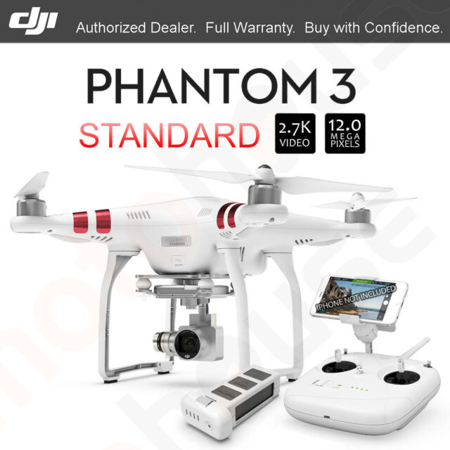 DJI Phantom 3 Standard vision Included 2.7K 12 Megapixel Photo HD Camera