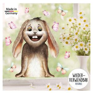 Lustiges Fensterbild Hase im Ballon aus Plauener Spitze Fensterschmuck Osterdeko