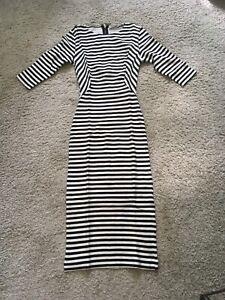 zara kleid gestreift im top zustand | ebay