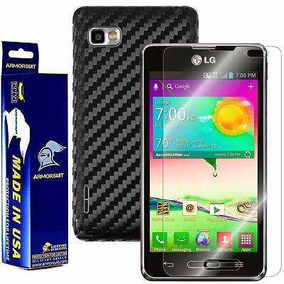 ArmorSuit LG Optimus F3 (LS720 / VM720) Screen Protector + Black Carbon Fiber